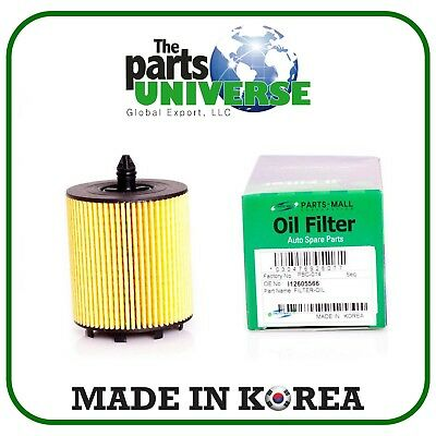 Parts Mall Oil Filter For Chevrolet Orlando Part 12605566 Pack 4