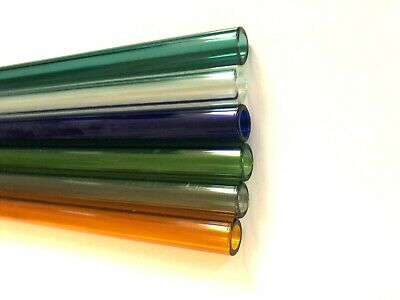 """GLASS Pyrex BLOWING TUBE   10 mm x 1.5 mm Thickness x 4""""  Long   Color MEDIUM"""