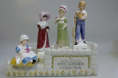 Royal Doulton Kate Greenaway Collection 4 Figure with store Display Stand