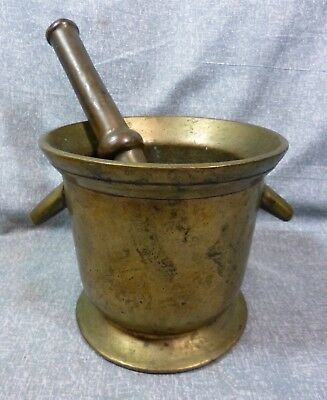 Antique 17+ LB Brass Commercial/Pharmacists Mortar & Pestle