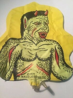 Vintage Gumball Machine Prize 1974 Inflatable Monster / Devil  Nadel And Sons