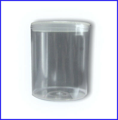 100 Empty sweet tubs pots with lids for vending machines