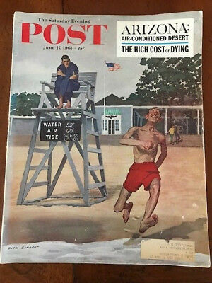 Saturday Evening Post Magazine June 17, 1961 Arizona, Antique Cars