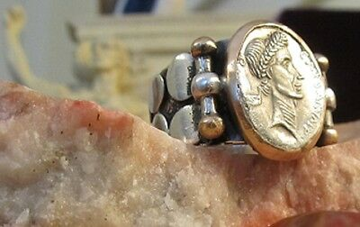 Impossible to own Julius Caesar $17,000 Denarius in a ring? Beautiful Repro!!