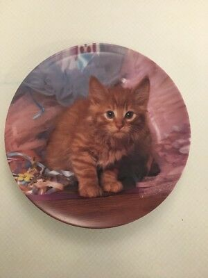 """The Crestley Collection """"Tutu Cute"""" Picture Purrfect Kitten Collector Plate 1994"""