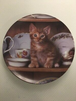 """The Crestley Collection """"Teatime Tabby""""  Plate 1993"""