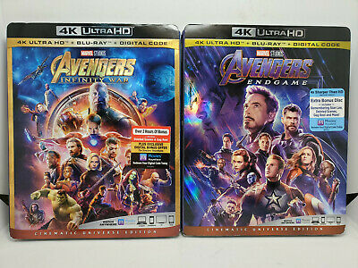 Avengers Infinity War with Lithograph+Tag+Moviebill 4K+Blu-ray+Slip, No Digital