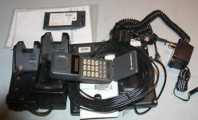 Motorola Micro-Tac vintage cell phone flip phone with extras