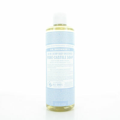 Dr. Bronner's Baby Unscented Pure Castile Liquid Soap 16oz/473ml