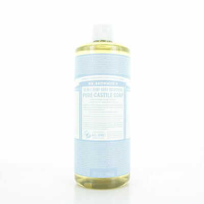 Dr. Bronner's Baby Unscented Pure Castile Liquid Soap 32oz/946ml