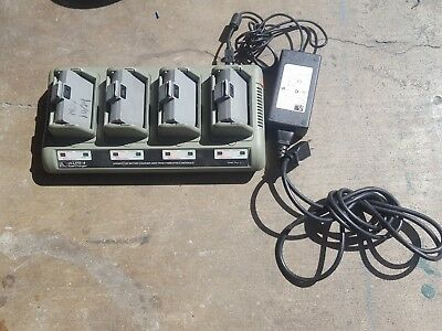 Zebra Quad Battery Charger Ucli72-4  Qln420 Qln320 Qln220 Rw420 With Batt.