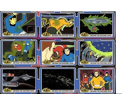 Star Trek 2003 The Complete Animated Adventures  Lot Of Trading Cards Ccg
