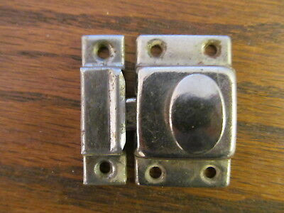 Vintage Hoosier /  Medicine Cabinet  /  cupboard door Latch and catch  Nickel