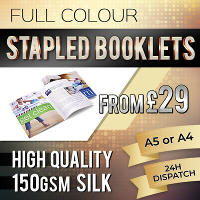 Full Colour Booklet Printing, Printed Brochures, 150GSM silk, High Quality