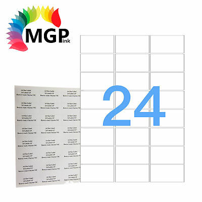 100 Sheets 24 Labels Per Page 2400 Labels 63.5×33.9mm A4 Office Mailing Labels