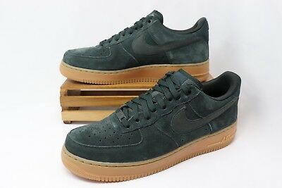 NIKE AIR FORCE 1 AF1  07 LV8 Suede Men s Green Gum AA1117-300 Men s ... 20b4738a7
