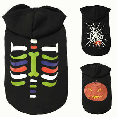 Halloween Pet Hoodie Clothes Puppy Cat Costume Winter Warm Apparel Clothes Bb Uk