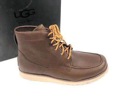 82098356d2f UGG AUSTRALIA MEN'S Halfdan Boot Grizzly Brown 1017286 Lace Up WP ...