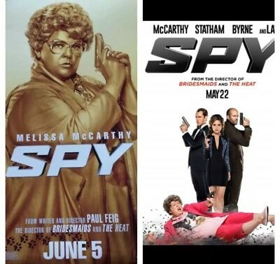 Melissa McCarthy THE SPY (Set Of 2) Authentic 27x40 D/S Movie Poster.