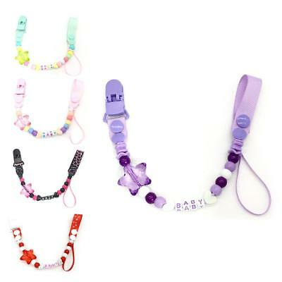 Baby Chain Cute Bead Silicone Soother For Baby Chew Dummy Pacifier Clip Teething