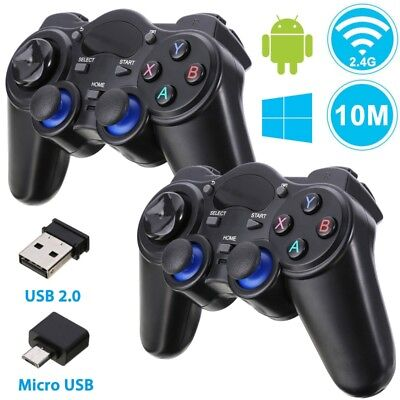 US Wireless 2.4G Game Controller Joystick for PS3 PC Android TV Tablets Phone