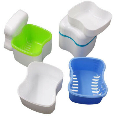 2 blue+green Denta Europe type teeth Basket Storage box Dental denture Container