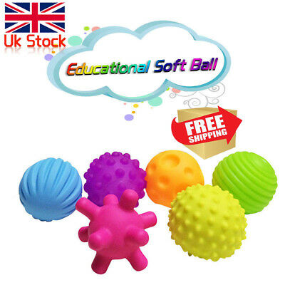 4/6Pcs Baby Soft Massage Sensory Development Educational Puzzle Ball Sound Toy