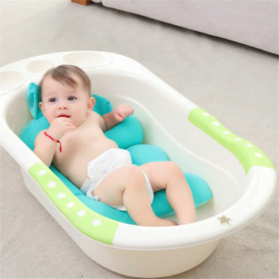 Baby Bathtub Air Cushion Shower Mat Infants Floating Safety Bath Filling Support