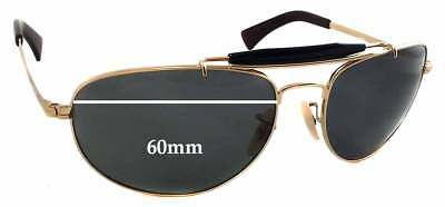 406723e2bd1 SFx Replacement Sunglass Lenses fits Ray Ban RB3423 - 60mm wide - 44mm tall