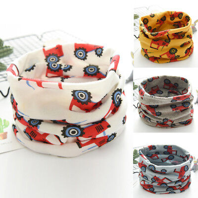 Toddler Autumn Winter Boys Girls Baby Flower Scarf Cotton O Ring Neck Scarves