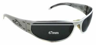 35af7f12c6ed SFx Replacement Sunglass Lenses fits Gatorz Paul Jr Motorcycle - 67mm wide  - 33m
