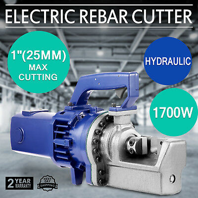 "RC-258C 1700W 1"" 8# Electric Hydraulic Rebar Cutter Steel Bar Any Angle Radius"