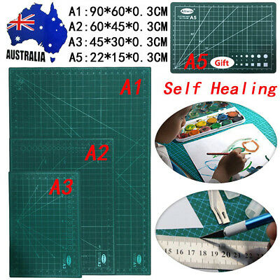 A1 Double-Side Self Healing Cutting Mat Art Craft Quilting Printed DIY + Gift A5