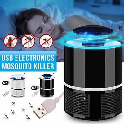 USB Mosquito Insect Killer Electric LED Light Fly Bug Zapper Trap Catcher Lamp