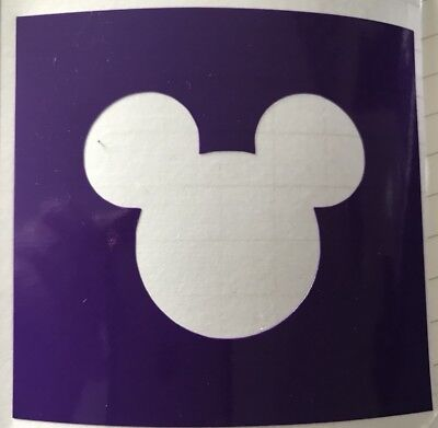 X5 Mickey Mouse Stencil Glass Craft Etched Vinyl Sticker Silhouette Disney