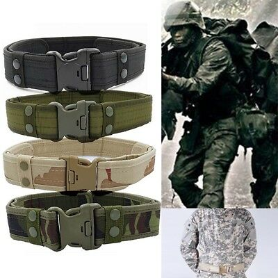 Men Boys Outdoor Sports EVA Waistband Army Canvas Buckle Belt Webbing Camouflage