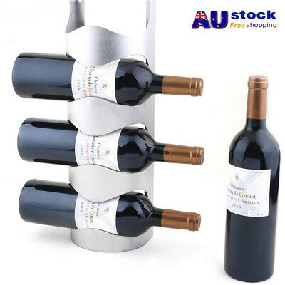 AU Stainless Steel Wine Rack Holders Home Bar Wall Grape Bottle Display Stand