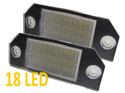 Fits Ford Focus Mk2 04-08 C-Max 03+ - 18 Smd LED Rear Number / Licence Plate Uni