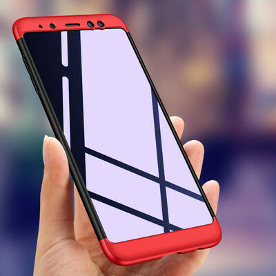 For Samsung Galaxy A8 Plus 2018 Heavy Duty 360° Full Protection Armor Cover Case