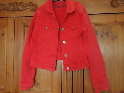 Years Pretty Jacket Zara Girls Very Jeans 12 Red Vgc Kids Size 11 vOHF7