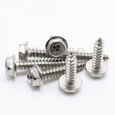 M3 M4 M5 M6 Phillips Hex Washer Head Self Tapping Screws  A2 304 Stainless Steel