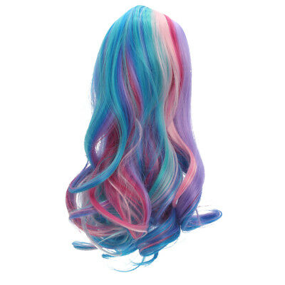 Colorful Wavy Curly Hair Wig for 18inch American Doll DIY Making Supplies