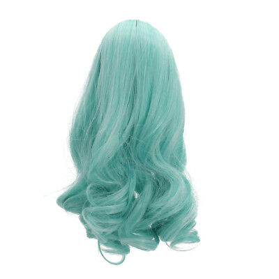PaleGreen Wavy Curly Hair Wig for 18inch American Doll DIY Making Accessory