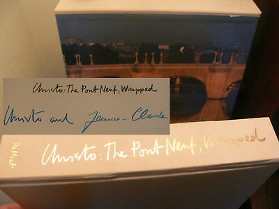 Christo Jeanne-Claude Pont Neuf Edition Buch signed signiert autograph Signatur