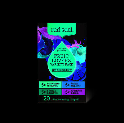 New Red Seal Fruit Lovers Variety Pack 20 Tea Bags