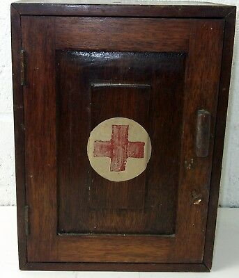 Vintage Medical wooden box with lock and key