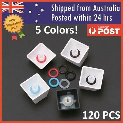 120 Mechanical Keyboard Keycap Rubber O-Ring Switch Dampeners Cherry MX Key Stem