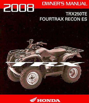 trx250te fourtrax recon es owner s manual 14 95 picclick rh picclick com 2007 honda recon 250 es owners manual Honda 250 Recon Four Wheeler