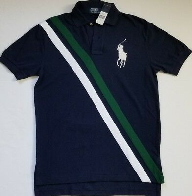 NWT Polo Ralph Lauren MENS MESH POLO T- SHIRT BIG PONY NAVY S/M/L #10