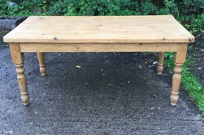 ANTIQUE VICTORIAN  FARMHOUSE PINE KITCHEN TABLE free delivery 150 miles of Dl2